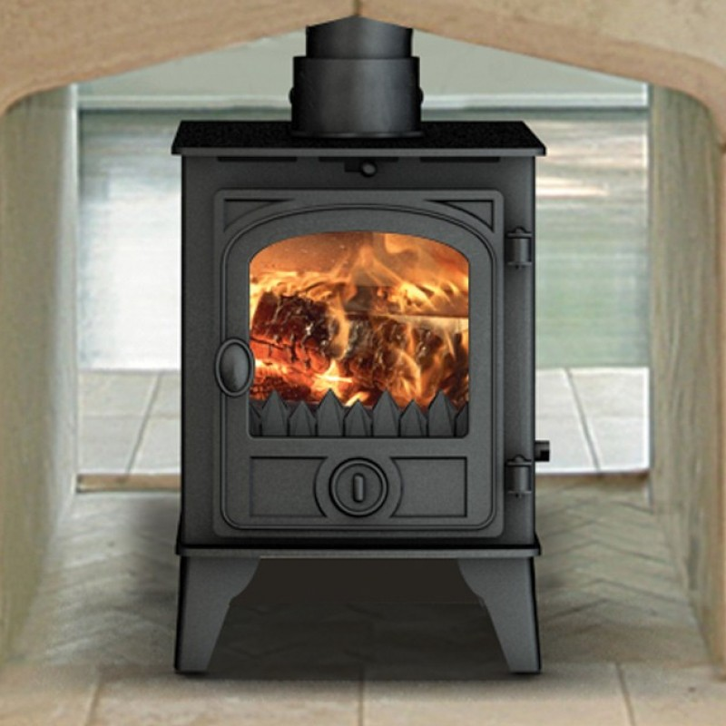 Hunter Hawk 4  4.7kW Multi Fuel Stoves Ideal Fires