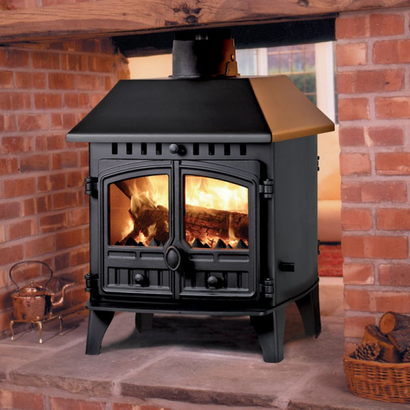 Hunter Herald 6 Double Sided  10.5kW Multi Fuel Stoves